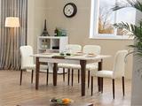 米勒 现代简约 胡桃色餐桌