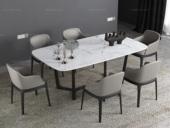 米勒 现代简约 白色大理石 1.4米餐桌