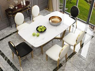 金匠 轻奢风格 大理石台面 白色2-01餐桌