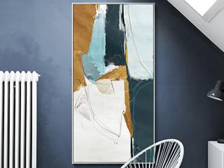 147铝合金边框 烤瓷工艺 1m*2m 会谈区装饰挂画