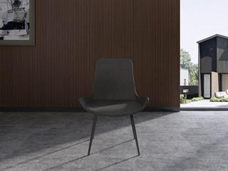 诺美帝斯 极简风格 H1006餐椅高级环保PU皮加黑砂脚架餐椅