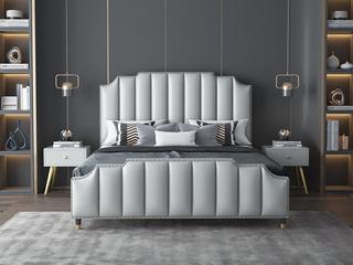 艺家 轻奢风格 豪华款 浅灰色1.8*2.0米床