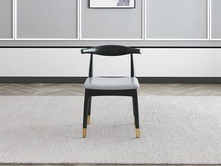 艺家 轻奢风格 Q302 超纤皮 白蜡木餐椅
