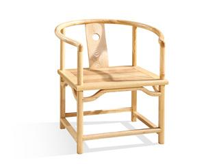 志盛木业 中式风格 北美进口白蜡木圈椅