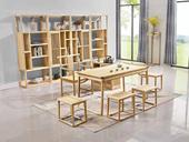 志盛木业 中式风格 北美进口白蜡木茶桌