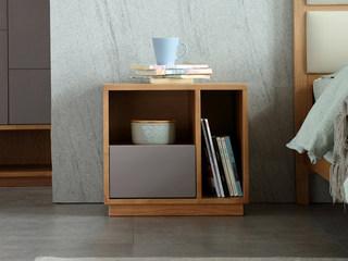荣之鼎 北欧风格 北美进口白腊木床头柜