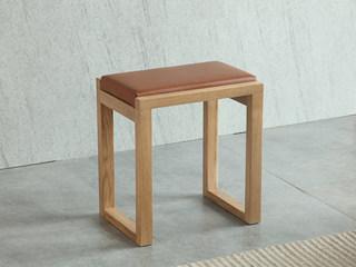 荣之鼎 北欧风格 北美进口白腊木妆凳