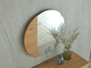 荣之鼎 北欧风格 北美进口白腊木妆镜