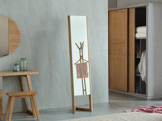 荣之鼎 北欧风格 北美进口白腊木穿衣镜