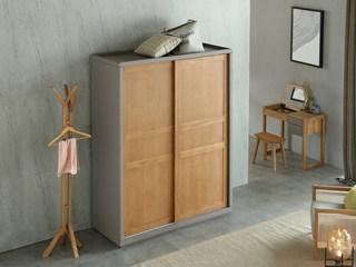 荣之鼎 北欧风格 北美进口白腊木趟门衣柜