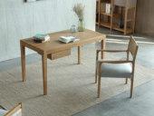 荣之鼎 北欧风格 北美进口白腊木书桌