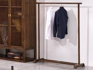 志盛木业 中式风格 北美进口白蜡木 胡桃色挂衣架