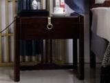 东方印记 新中式风格 泰国进口橡胶木床头柜