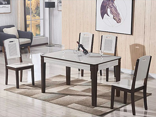 怡都 现代简约 钢化玻璃餐桌