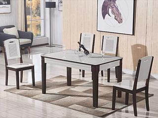 怡都 现代简约 实木框架 餐椅