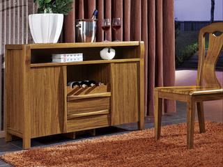 中式风格 北美进口胡桃木 餐边柜