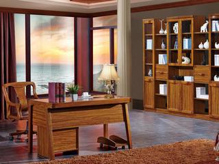 纯典 中式风格 北美进口胡桃木 六门书柜