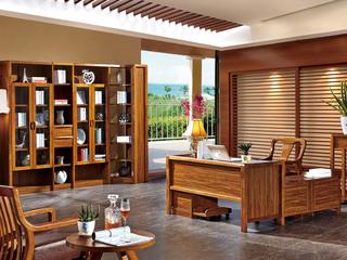 纯典 中式风格 北美进口胡桃木 书台