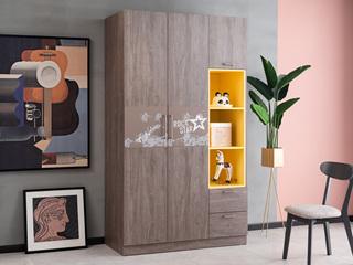 科隆印象 现代简约 高级灰 储物家用 三门衣柜