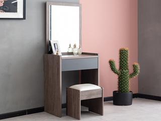 科隆印象 现代简约 高级灰 卧室梳妆台+妆凳