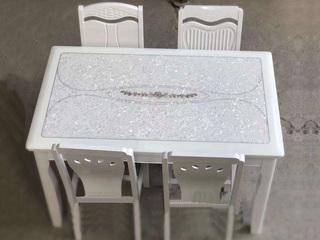 怡都 现代简约 大理石冰花餐桌