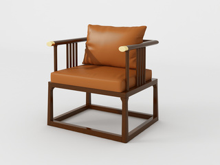 檀宫御品 新中式 黄金檀木 FA1903休闲椅