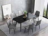 瑞庭 极简风格 新型进口岩板台面 1.6米餐桌