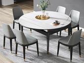 瑞庭 现代简约 劳伦白金 2260岩板 1.5米餐桌