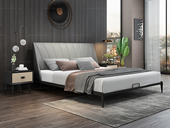 奢工 潮品系列 极简风格 802床 1.8*2.0米 头层黄牛皮床