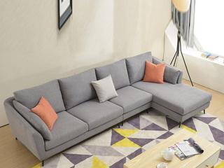 布艺沙发组合大小户型 北欧客厅沙发 可拆洗沙发组合(1.5+3+左贵妃)