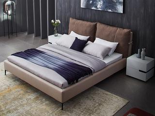 简约布床 1.8*2.0米主卧小户型轻奢可拆洗双人床TB2003意式轻奢 可拆洗