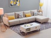 斯可馨 北欧布艺沙发L型现代简约客厅家具组合(1+3+左贵妃)