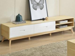 现代简约小户型客厅家具 现代简约 原木色 储物烤漆电视柜
