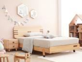 北欧印象 北欧风格 榉木坚固框架 手工木蜡油工艺 曲奇色 ET6101儿童床 1.2*1.9米儿童床