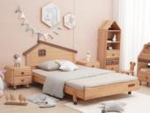 北欧印象 北欧风格 榉木坚固框架 手工木蜡油工艺 曲奇色 ET6103儿童床 1.2*1.9米儿童床