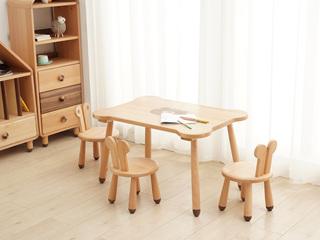 北欧印象 北欧风格 榉木坚固框架 手工木蜡油工艺 曲奇色 ET6201儿童桌