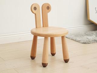 北欧印象 北欧风格 榉木坚固框架 手工木蜡油工艺 曲奇色 ET6202儿童椅