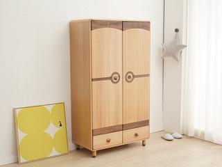 北欧印象 北欧风格 榉木坚固框架 手工木蜡油工艺 曲奇色 ET6108二门衣柜
