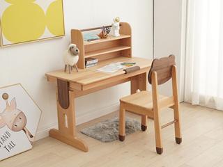 北欧印象 北欧风格 榉木坚固框架 手工木蜡油工艺 曲奇色 ET6501书台