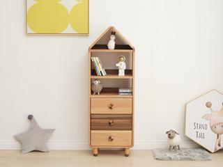 北欧印象 北欧风格 榉木坚固框架 手工木蜡油工艺 曲奇色 ET6505高书柜