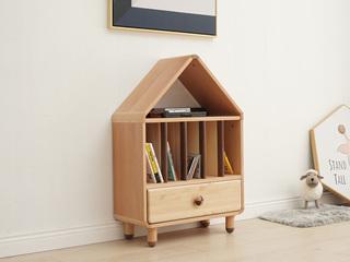 北欧印象 北欧风格 榉木坚固框架 手工木蜡油工艺 曲奇色 ET6508矮书柜