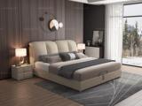 皮坊工艺 现代简约 优质细麻 米黄色1.5*2.0米床