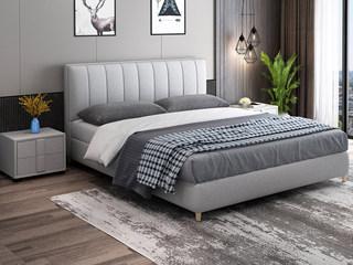 现代简约 优质细麻 浅灰色1.8*2.0米床