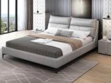 皮坊工艺 现代简约 科技布 白色1.5*2.0米床