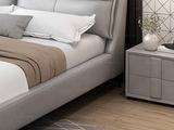 皮坊工艺 现代简约 扪布 白色床头柜