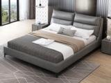 皮坊工艺 现代简约 科技布 浅灰色1.8*2.0米床