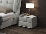 皮坊工艺 现代简约 扪皮 中灰色床头柜