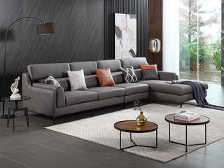 芬洛 现代风格 转角沙发(1+3+左贵妃)
