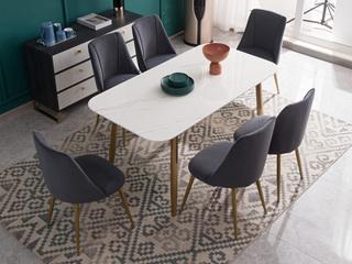 喔木居 轻奢风格 塔克系列 TK9928餐桌 1.4米餐桌