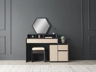宏宇家私 极简风格 JY-001 简意系列 妆台(含妆凳)